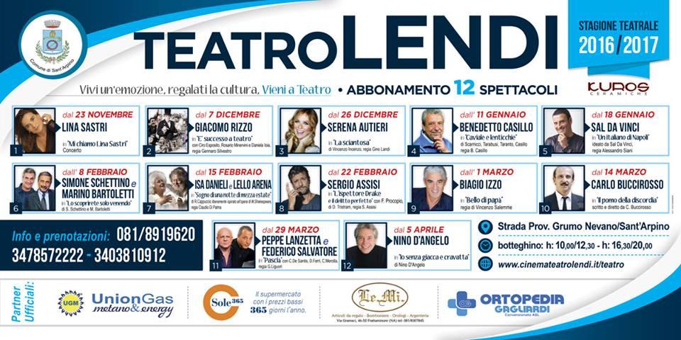 Stagione Teatrale 2016/2017 - Teatro Lendi