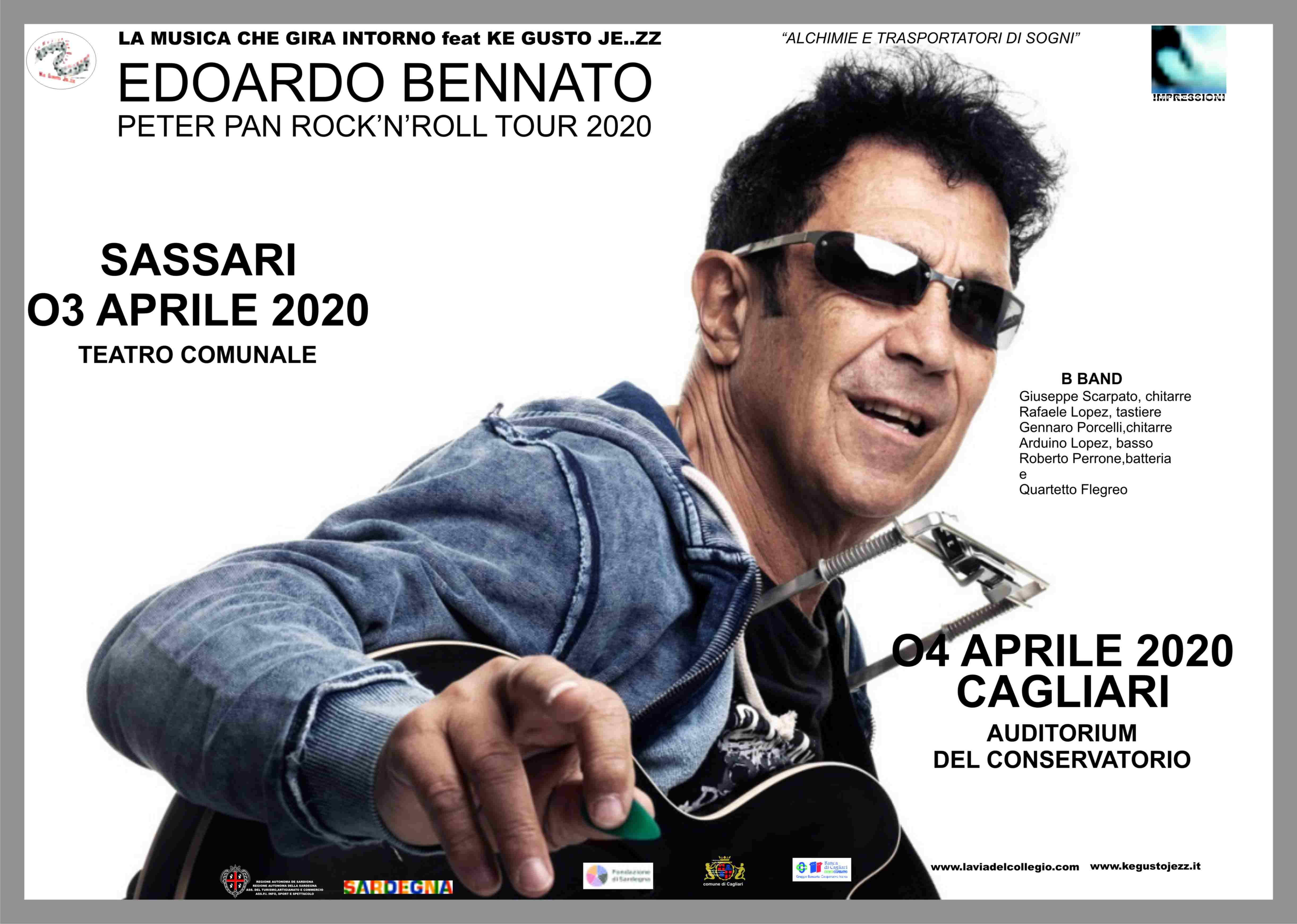 Edoardo Bennato Peter Pan Rock'n'roll Tour 2020