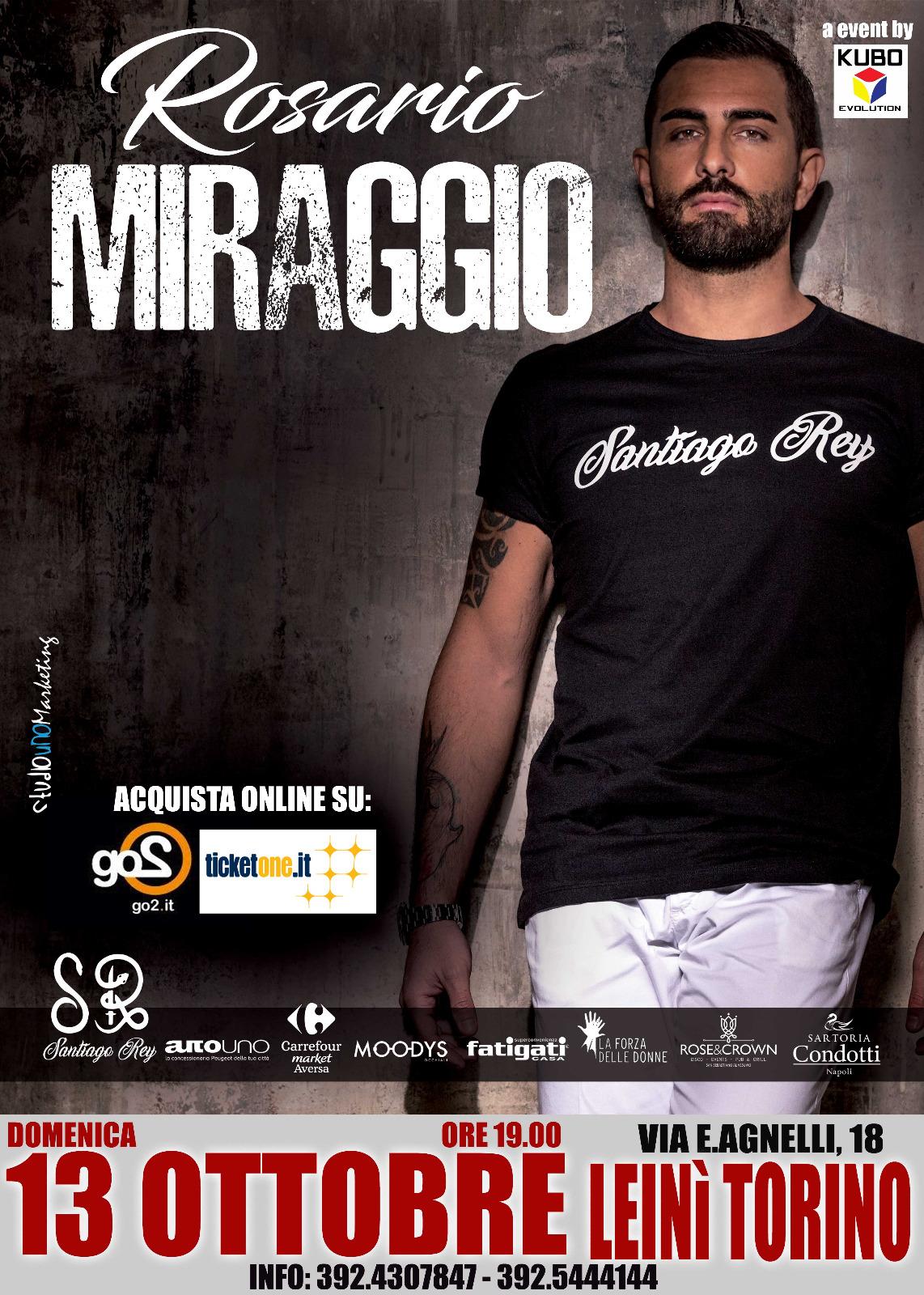 Rosario Miraggio in concerto