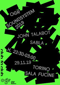 OGR Soundsystem: John Talabot