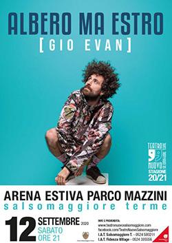 """GIO EVAN """"ALBERO MA ESTRO"""" TOUR 2020"""