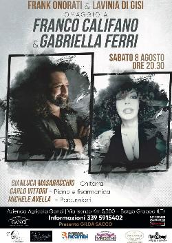 Omaggio a Franco Califano e Gabriella Ferri