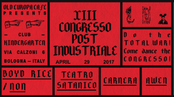 XIII Congresso Post Industriale